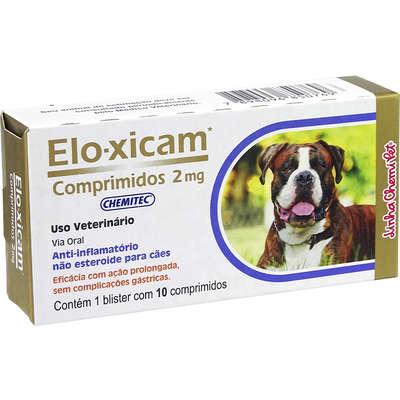 Elo-xicam - Anti-inflamatório - Comprimidos 2 mg - Chemitec