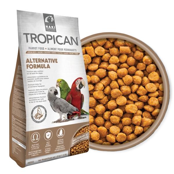 Hari Ração Extrusada Tropican - Alternative Sênior - Papagaios Adultos e Idosos - 1,8kg