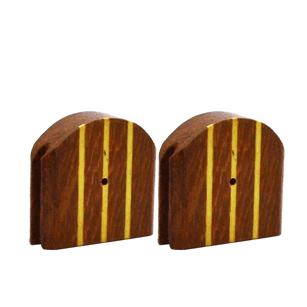 Jogo de Presilhas de Madeira - Malha Larga