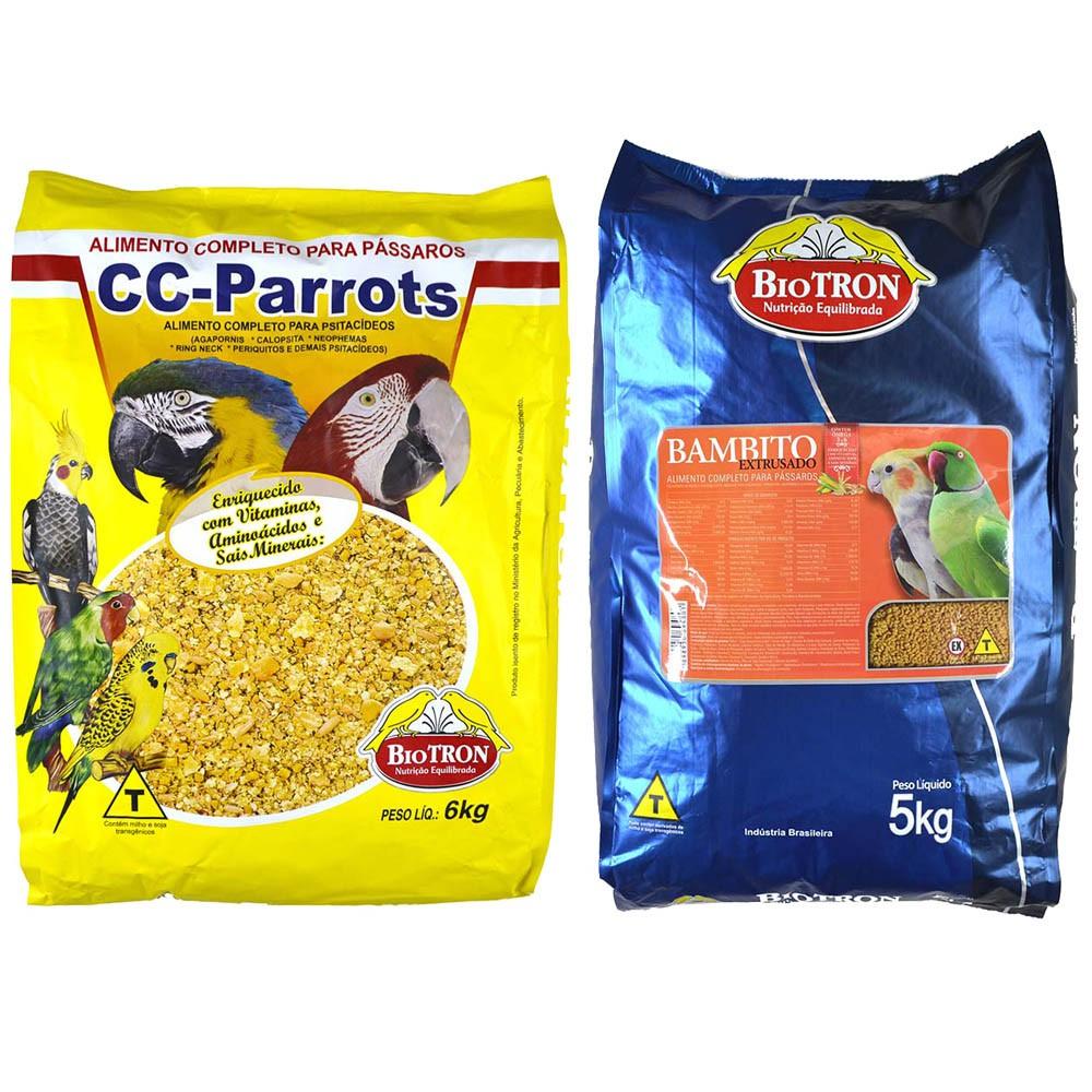 Kit 1 Bambito Extrusada 5kg + 1 Cc Parrots 6kg - Biotron