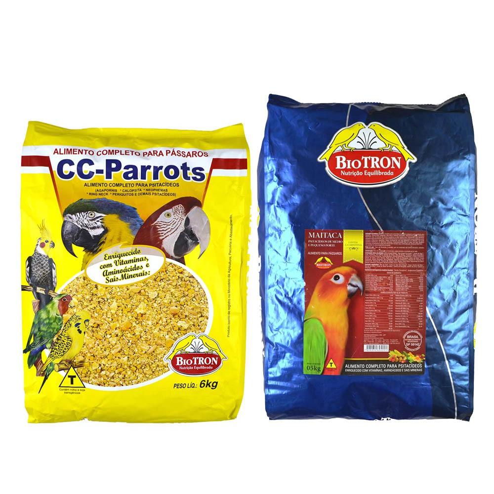 Kit 1 Cc Parrots 6kg + 1 Maitaca 5kg - Biotron