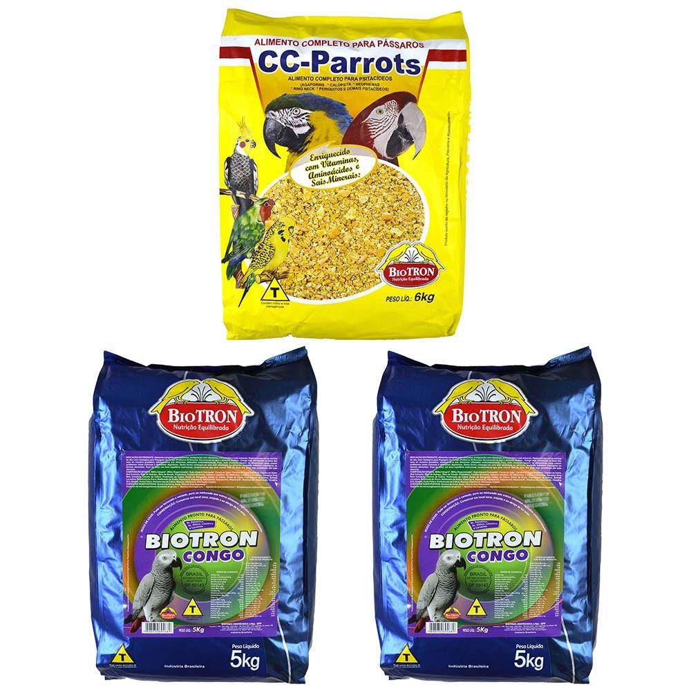 Kit 1 Cc Parrots 6kg + 2 Biotron Congo 5kg