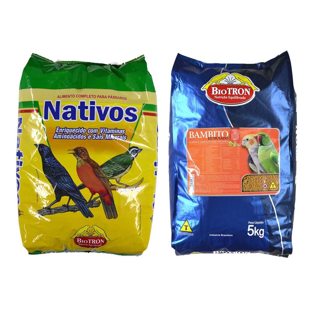 Kit 1 Nativos 5kg + 1 Bambito Extrusado 5kg - Biotron
