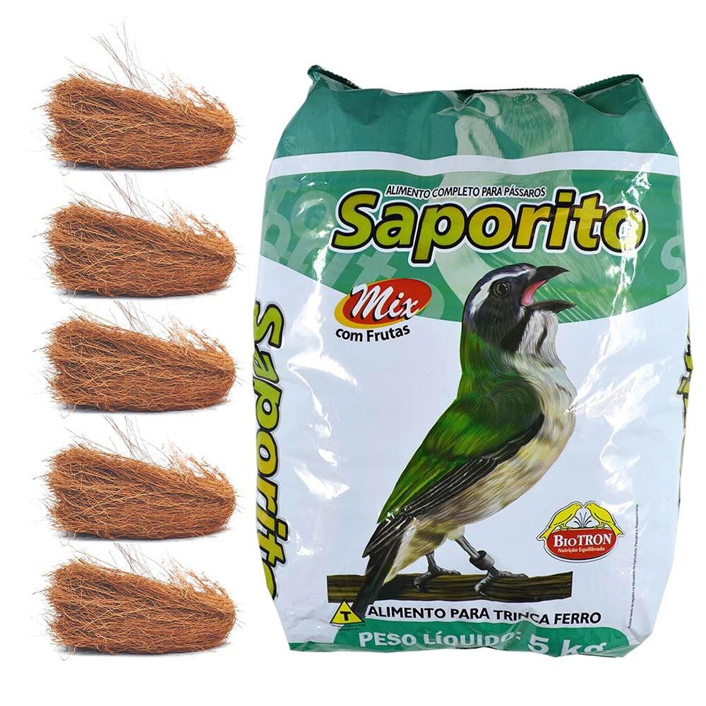 Kit 1 Saporito Mix 5kg + Raíz Para Ninho 500g