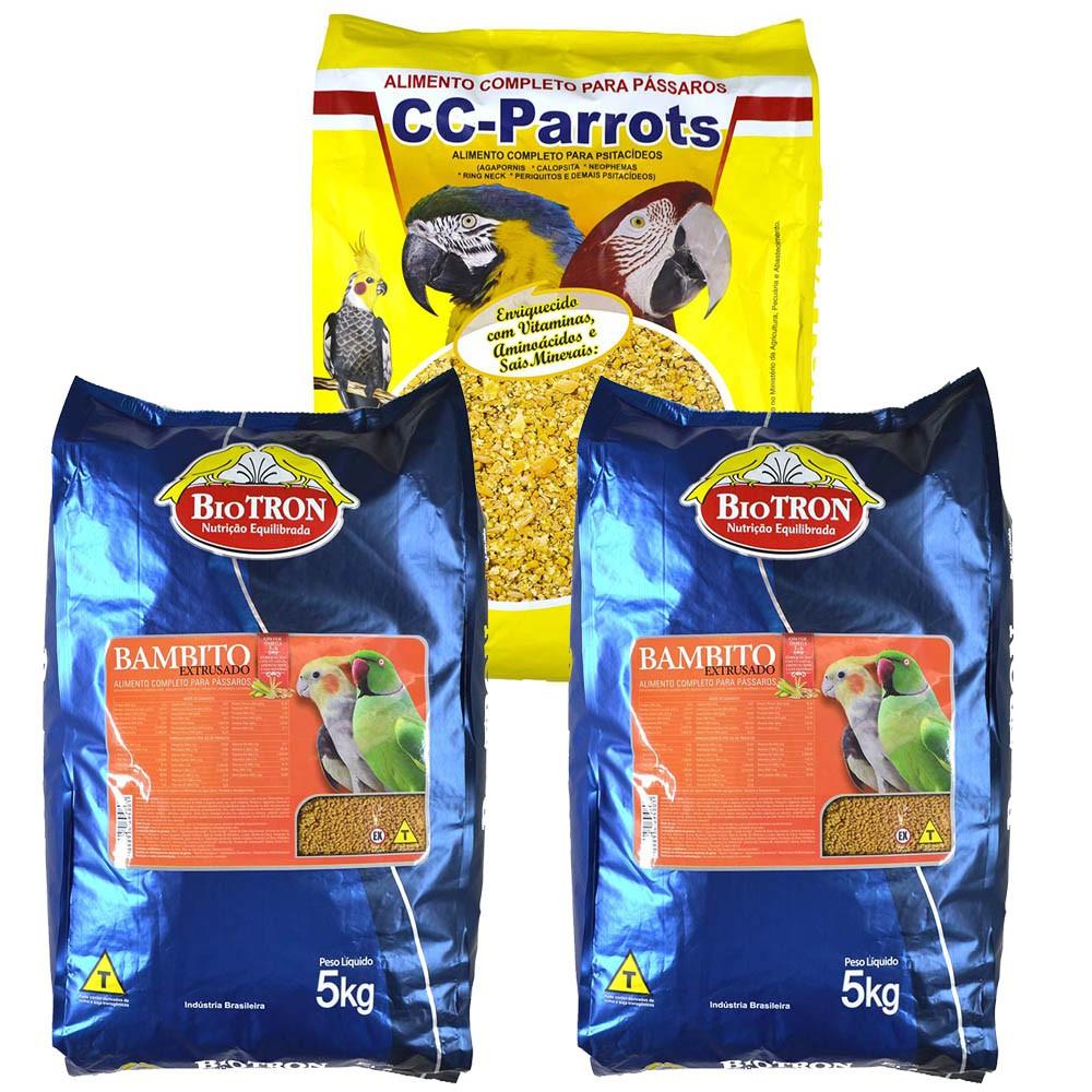Kit 2 Bambito Extrusada 5kg + 1 Cc Parrots 6kg - Biotron