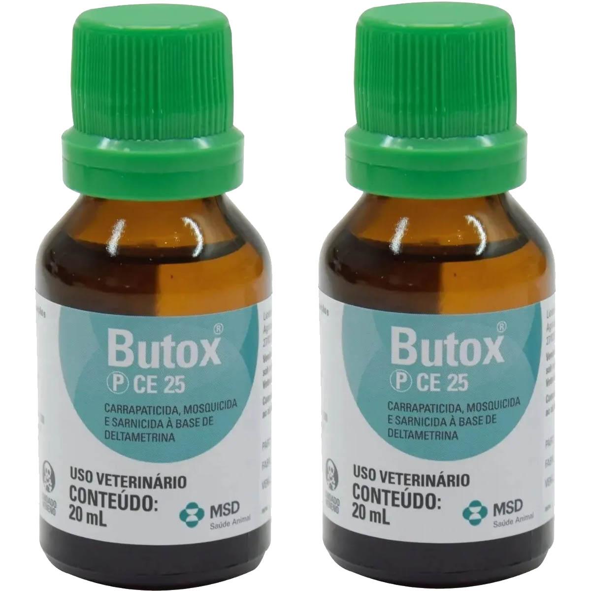 Kit 2 Butox 20ml - Anti Pulgas Carrapatos Para Cães Gatos