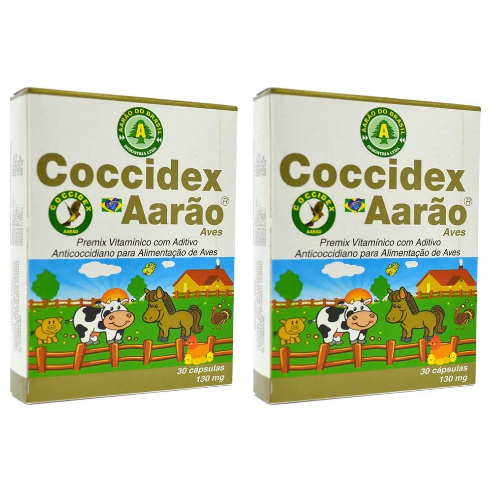 Kit 2 Coccidex 130mg 30 Cápsulas - Aarão Coccidiose Pássaros