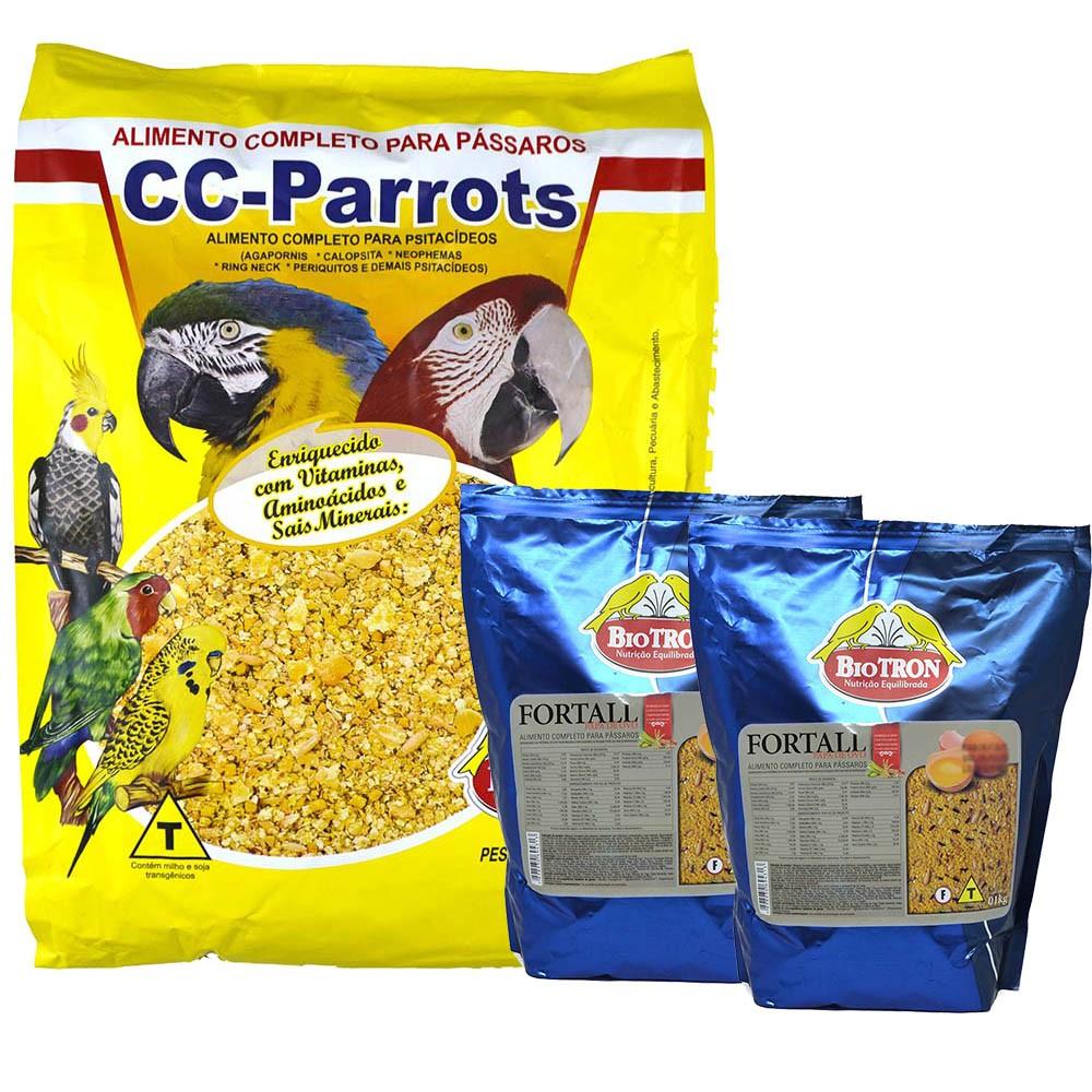 Kit 2 Fortall 1kg + 1 Cc Parrots 6kg - Farinhadas Biotron