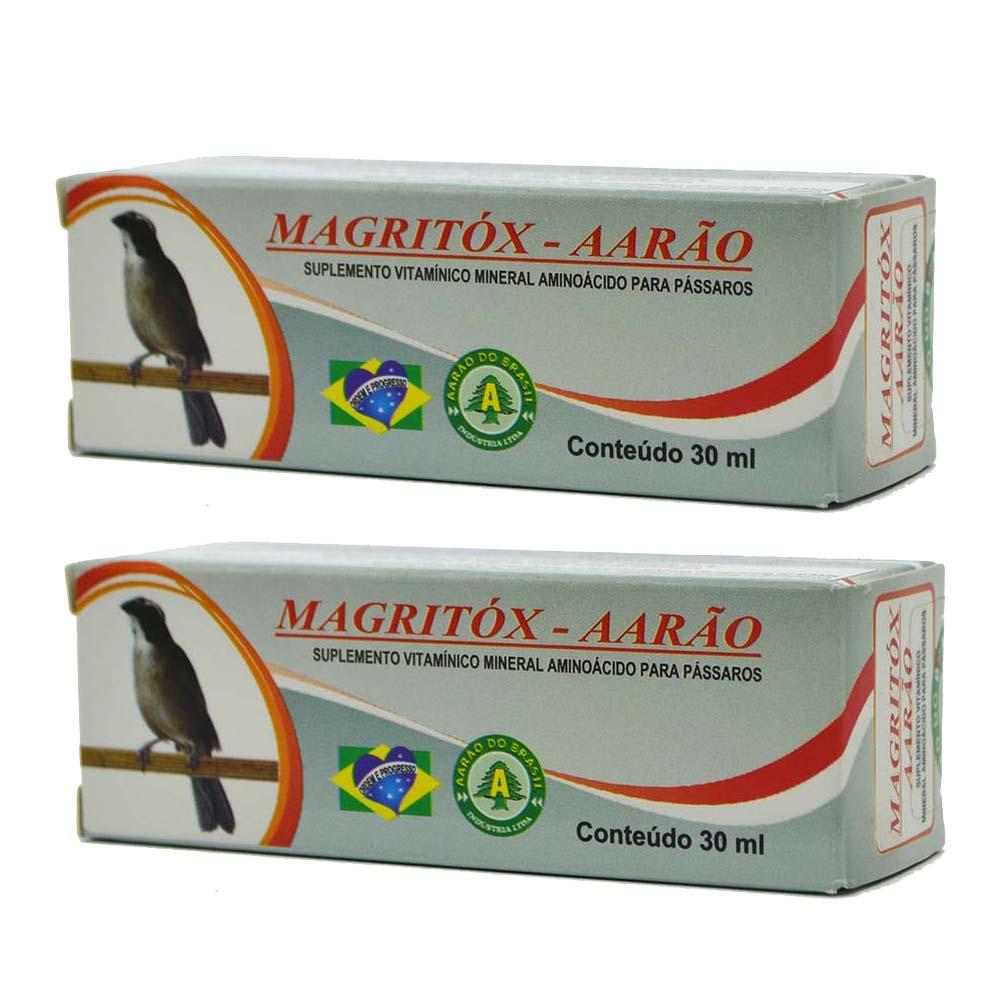 Kit 2 Magritóx 30ml - Aarão - Tratamento Pássaros Obesos