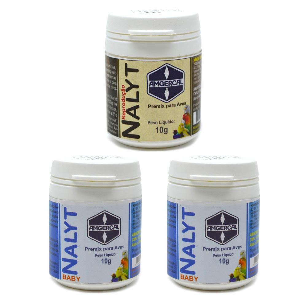 Kit 2 Nalyt Baby 10g + 1 Nalyt Reprodução 10g - Amgercal