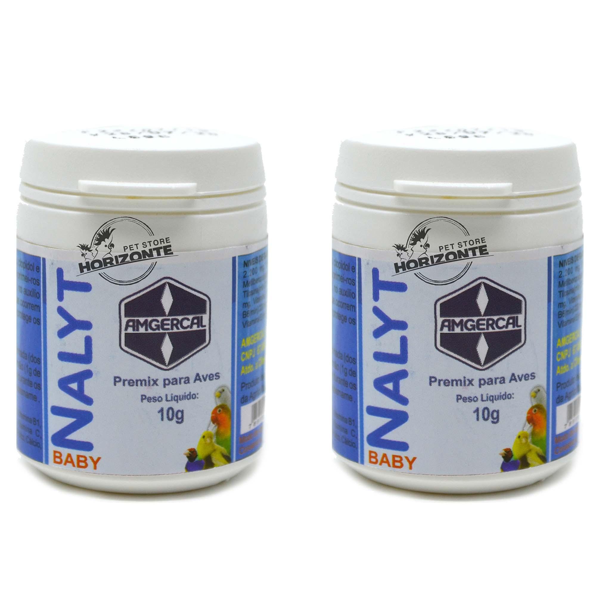 Kit 2 Nalyt Baby 10g Amgercal Vitamina p/ Filhotes Pássaros