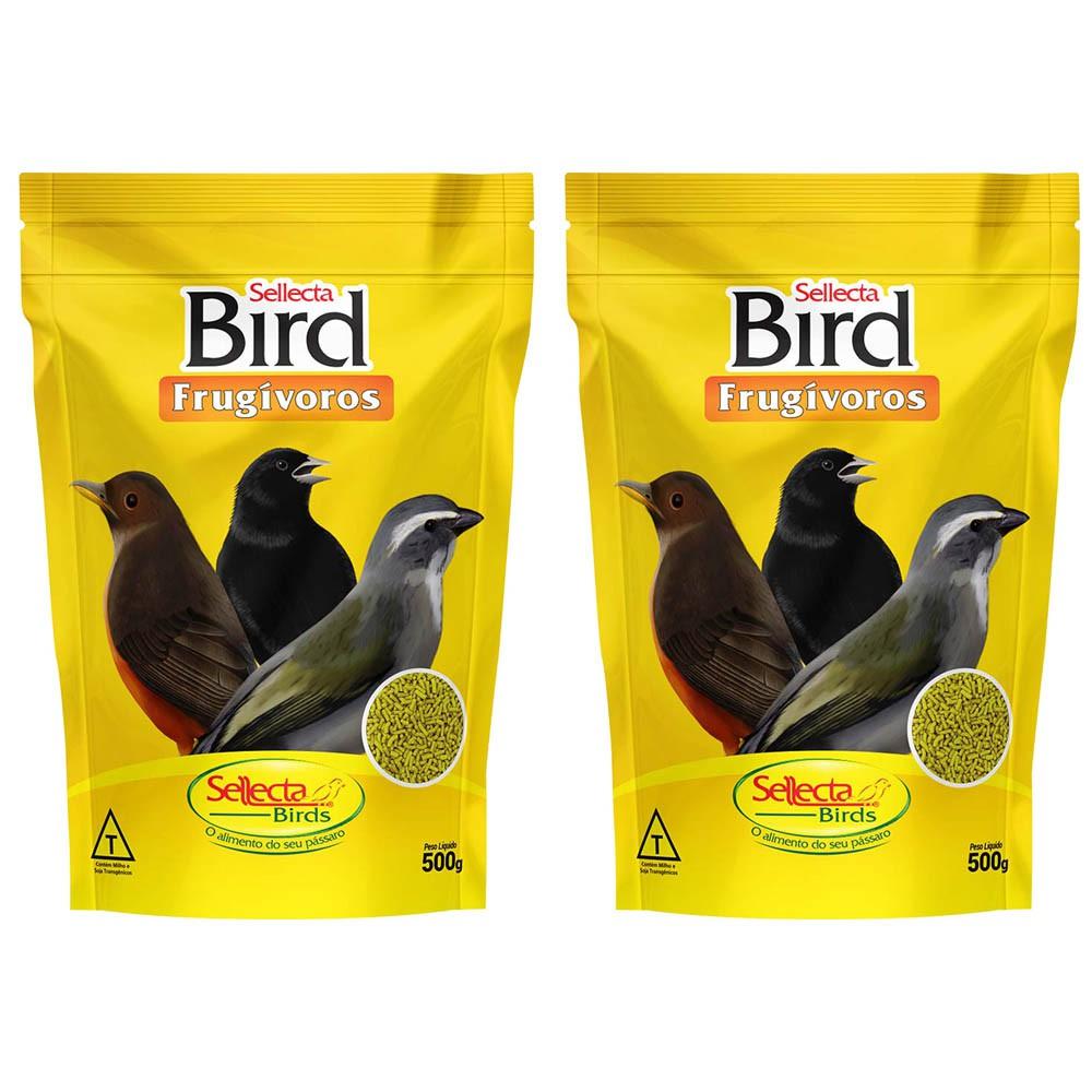 Kit 2 Sellecta Bird Frugívoros 500g Extrusada Pixarro Sabiá