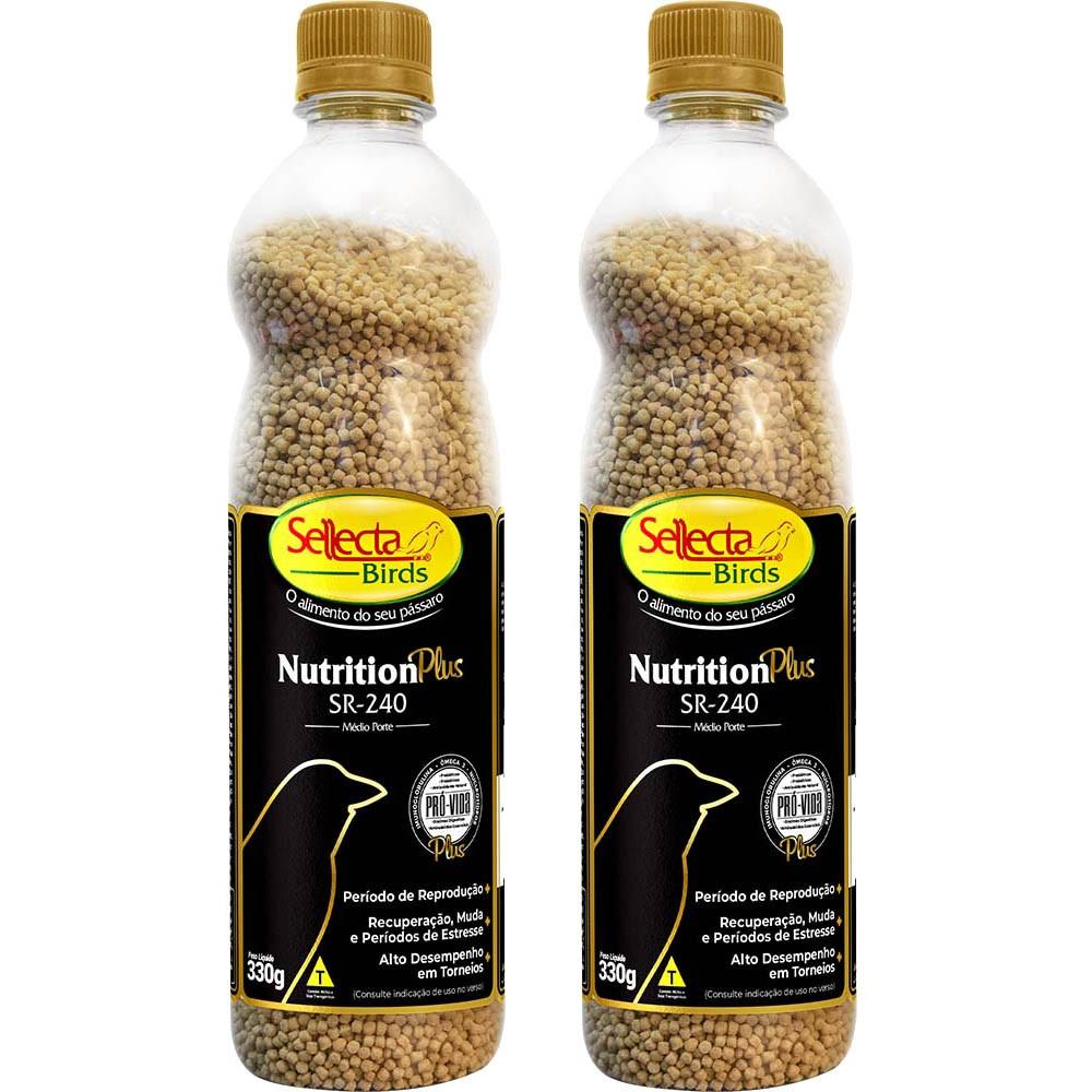 Kit 2 Sellecta Nutrition Plus Sr240 Passaro Médio Porte 330g