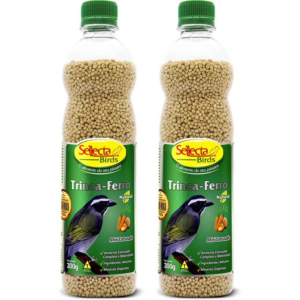 Kit 2 Sellecta Trinca Ferro Natural 300g Ração Sabia Pixarro
