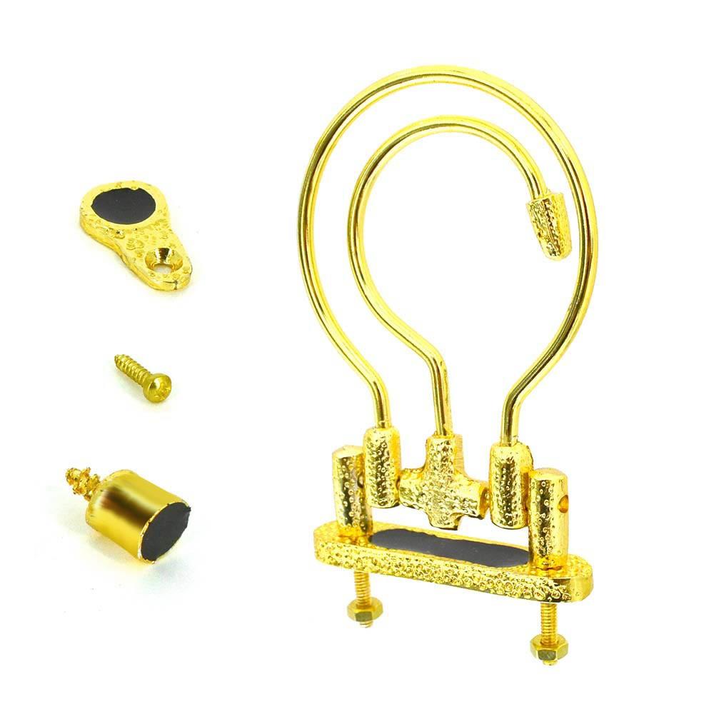 Kit Alça Grande Dourada + Puxador + Trava