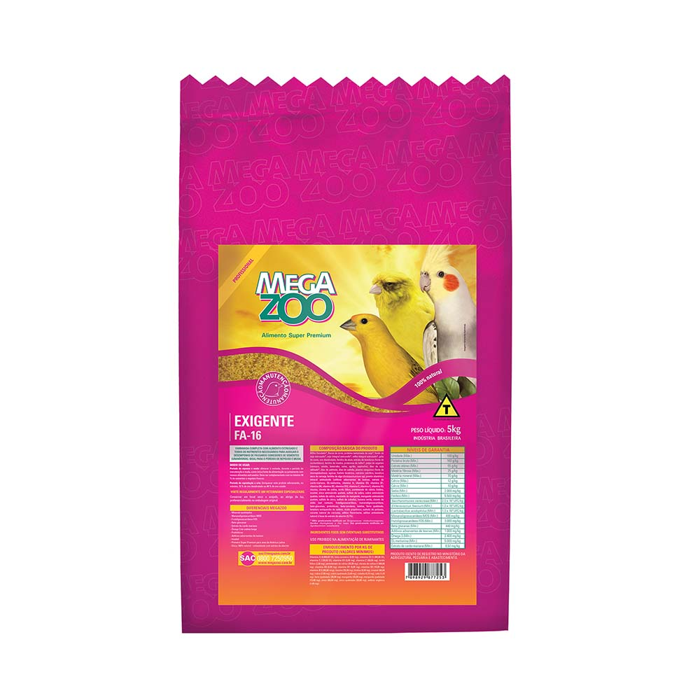 Megazoo FA16 Farinhada rica em proteína animal - 5kg