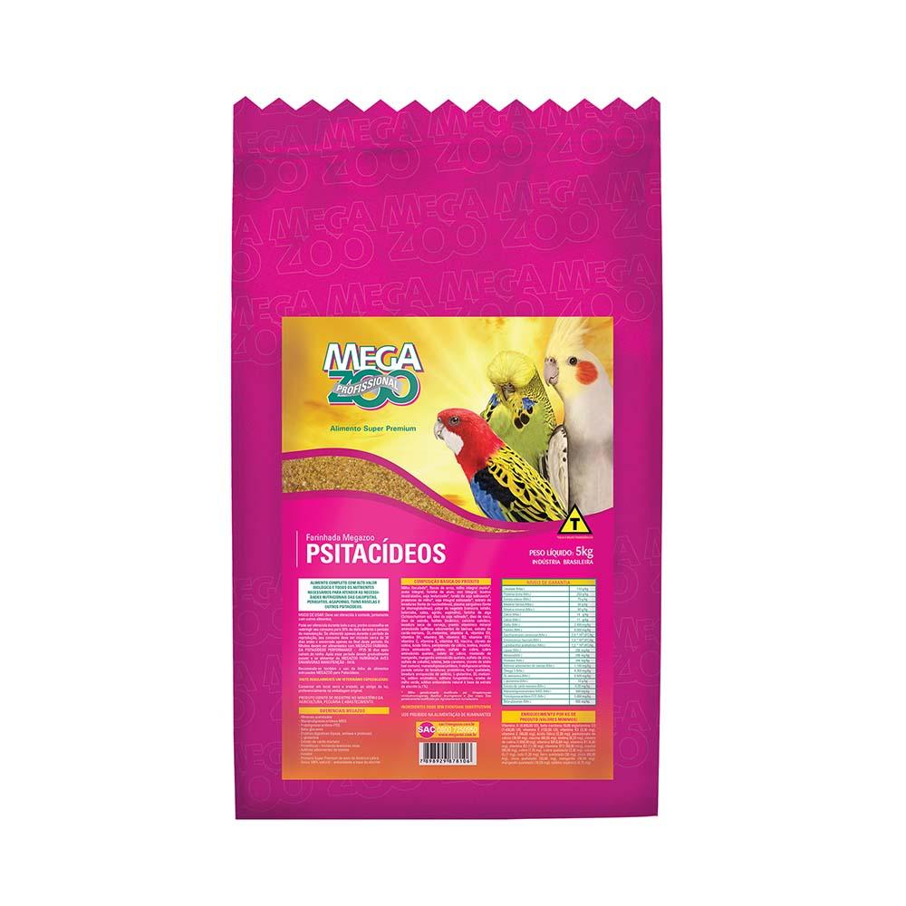 Megazoo Farinhada Psitacídeos - 5kg
