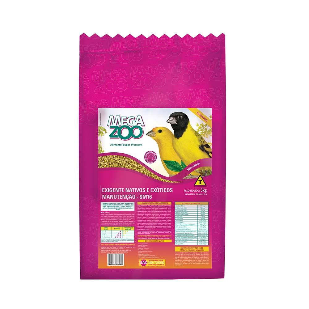 Megazoo SM16 Ração Extrusada Pássaros Silvestres e  Exóticos - 5kg