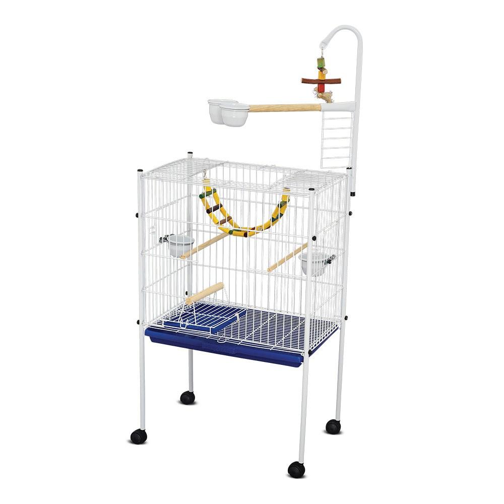 Mini Viveiro Teto Reto Papagaio - Branco