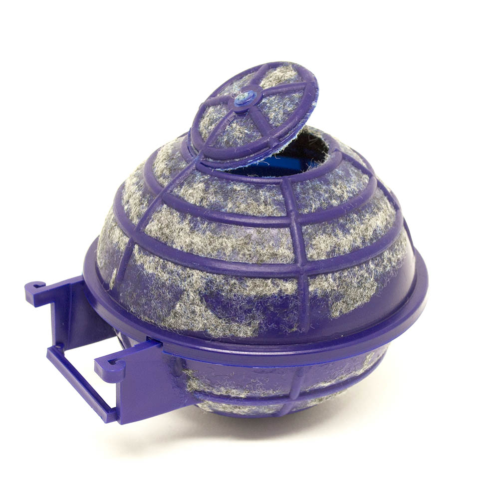 Ninho Plástico Azul tipo Bola com Forro Carpete - Canário