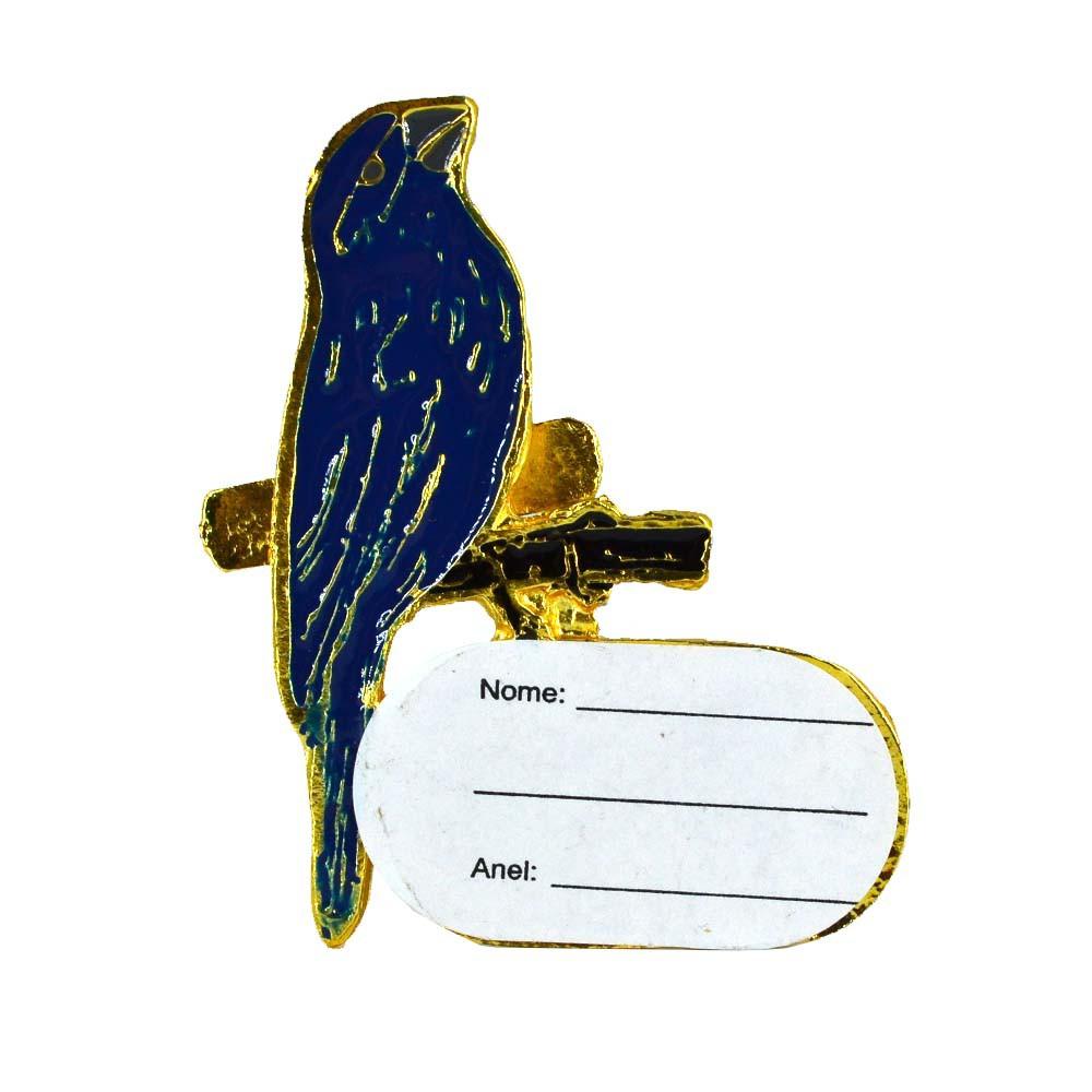 Ornamento com placa de identificação - Azulão