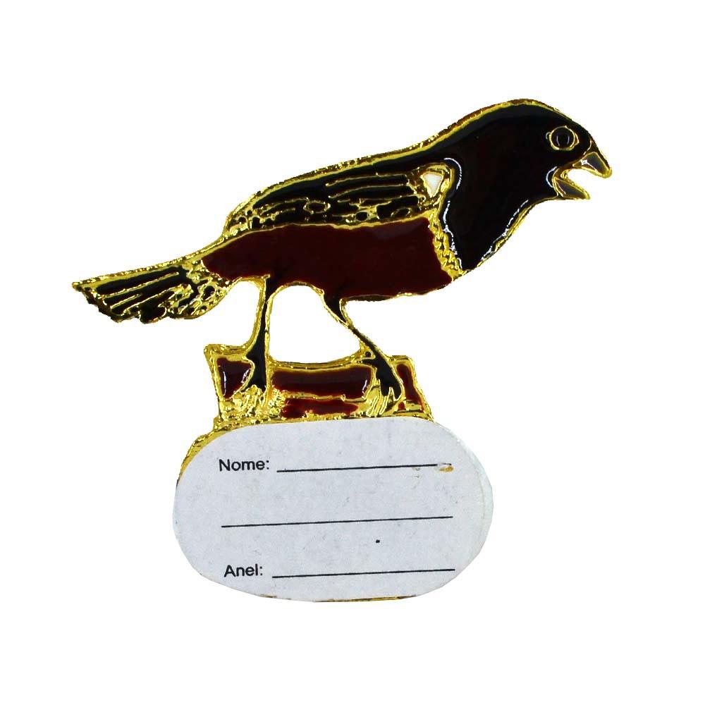 Ornamento com placa de identificação - Curió