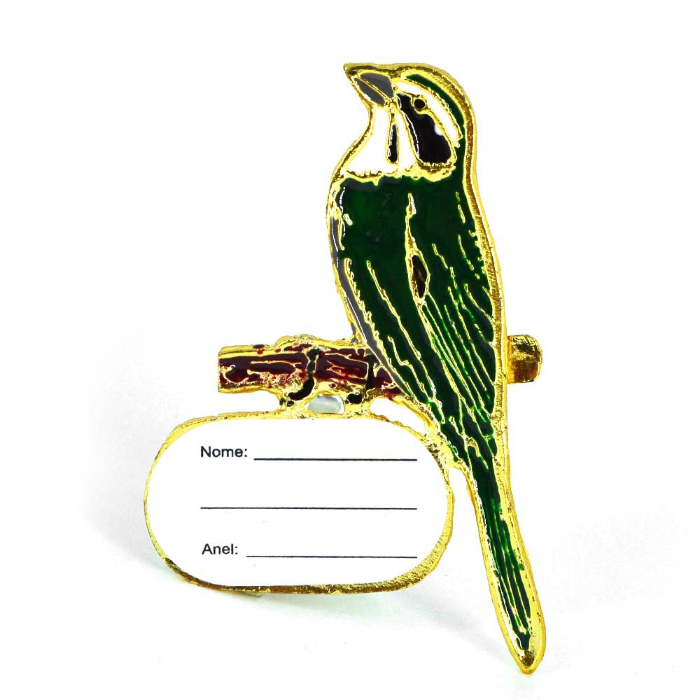 Ornamento com placa de identificação - Trinca Ferro