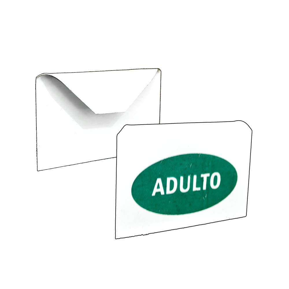 Placa Identificação - Adulto