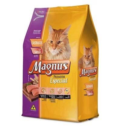 Ração Magnus Premium Especial Gatos Castrados Sabor Salmão - 10,1Kg