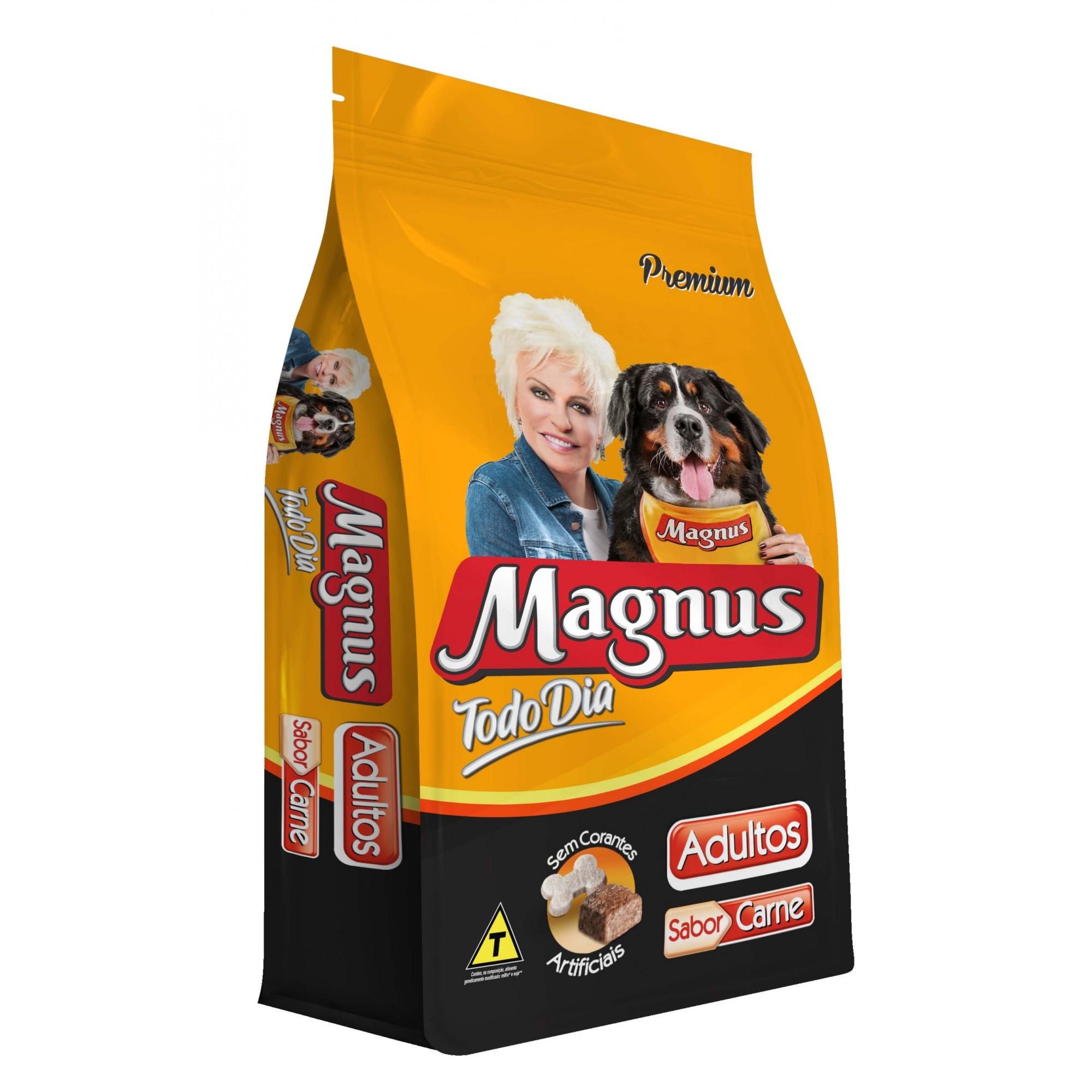 Ração Magnus Premium Todo Dia Cães Adultos Sabor Carne - 15kg