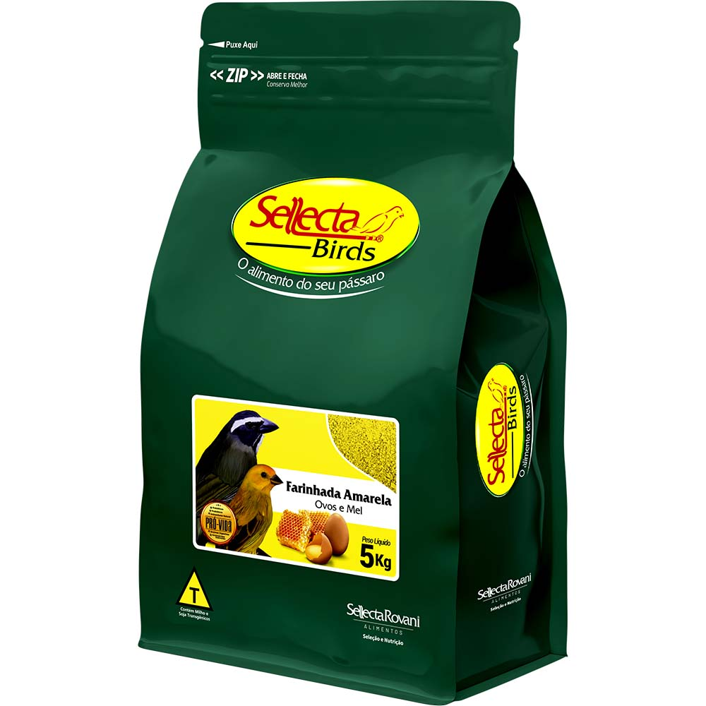 Sellecta Farinhada Amarela com Ovos e Mel - 5kg