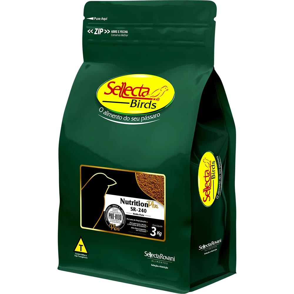 Sellecta Nutrition Plus SR-240 Médio Porte - 3kg
