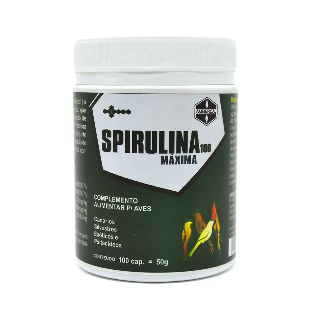 Spirulina Máxima 100 - 100 cápsulas