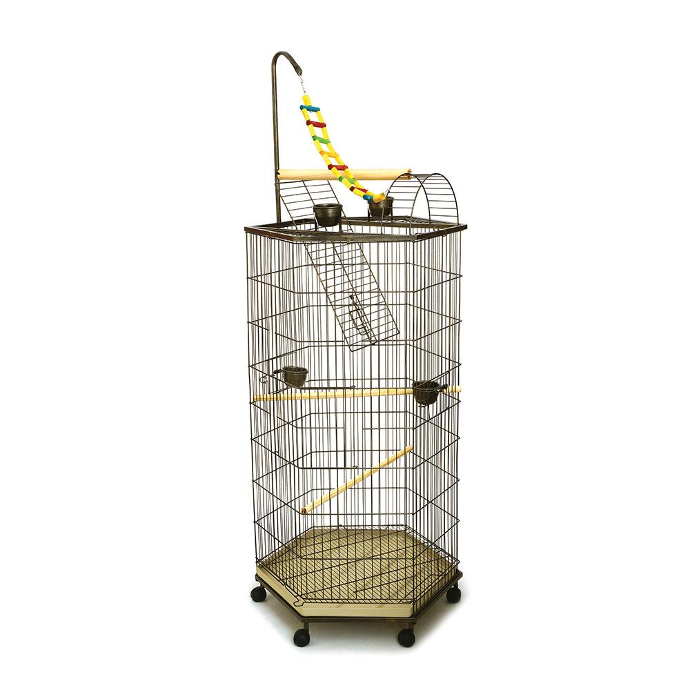 Viveiro Play Top - Papagaios - Malha Larga 25mm - Ouro Velho ou Branco