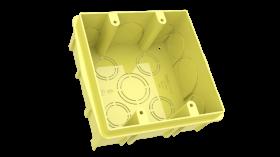 Caixa de Embutir em Alvenaria 4X4 Amarela 092-E ENERBRAS