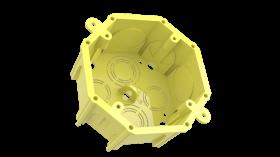 Caixa de Embutir em Alvenaria Octagonal 4X50 Amarela 093-E ENERBRAS