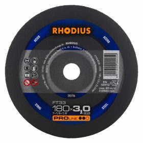 Disco de Corte PRO FT33 180X3,0X22,23 RHODIUS 200786