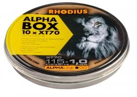 Disco de Corte ALPHA XT70 115X1,0X22,23 10 Peças RHODIUS 208225
