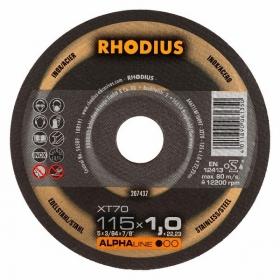 Disco de Corte ALPHA XT70 115X1,0X22,23 RHODIUS 207436