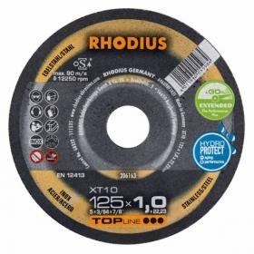 Disco de Corte TOP XT10 125X1,0X22,23 RHODIUS 206163