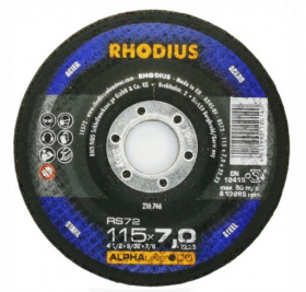Disco de Desbaste ALPHA RS72 115X7,0X22,23 RHODIUS 201706
