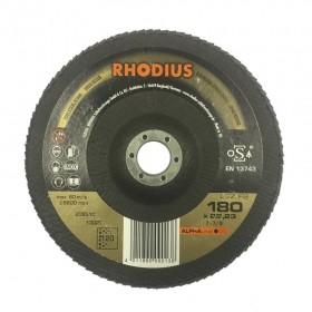 Disco Flap ALPHA LGZ F2 180x22,3 GR120 RHODIUS 209510