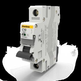 Disjuntor Ter. 3KA 1 Polo 10A Cinza DT3-E1C10 ENERBRAS
