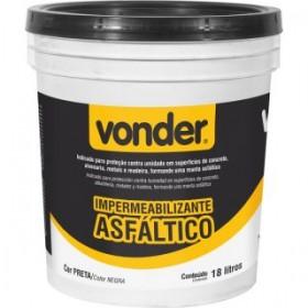 Impermeabilizante Asfáltico 18L VONDER 51.99.000.018