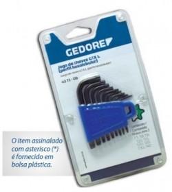 Jogo De Chave Torx 9 Peças T7-T40 GEDORE 024.620