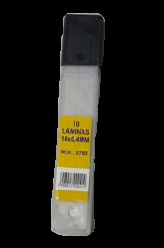 Lâminas Para Estilete 18X0,4mm 10 Peças VIRTUAL 3780