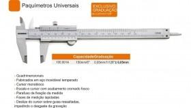 PAQUIMETRO UNIVERSAL150MM 0,05MM/1/128  100.001A DIGIIMESS