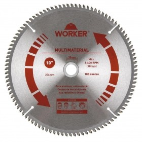 Serra Circular Multimaterial 10'' 100 Dentes 30mm WORKER 471615