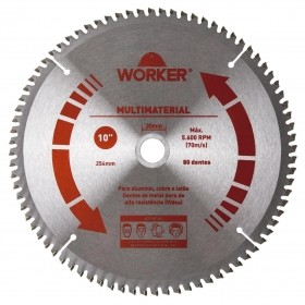 Serra Circular Multimaterial 10'' 80 Dentes 30mm WORKER 471607