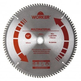 Serra Circular Multimaterial 12'' 96 Dentes 30mm WORKER 471623